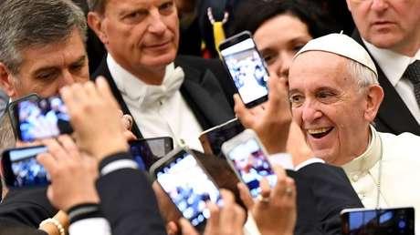 El papa Francisco en el Vaticano, 21 de diciembre de 2016.