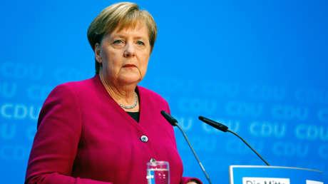 La canciller alemana, Angela Merkel, asiste a una conferencia de prensa en Berlín, Alemania. 29 de octubre de 2018.