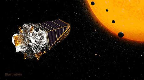 Representación artística de la sonda espacial Kepler de la NASA.