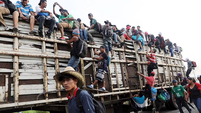 Trump: Cuando migrantes lanzan una piedra a la Policía mexicana, debe ser considerada como un rifle