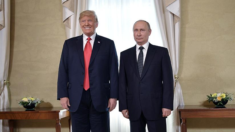 """Kremlin: Putin y Trump conversarán """"brevemente"""" en París este fin de semana"""