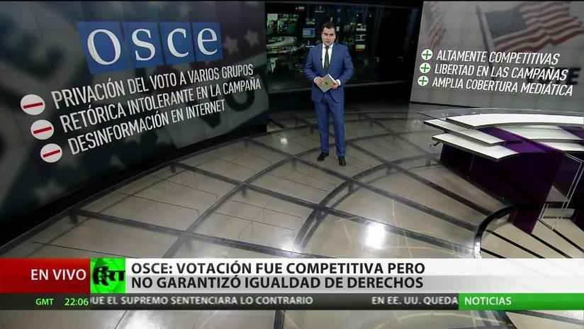 OSCE: La votación en EE.UU. fue competitiva pero no garantizó la igualdad de derechos