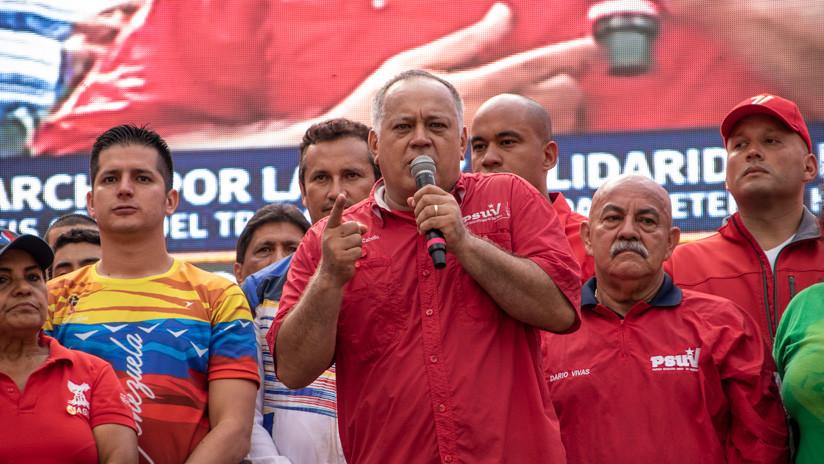 """Diosdado Cabello: """"La violencia que hay en Venezuela viene de Colombia"""""""
