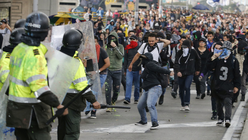 VIDEOS: Nueva jornada de disturbios en Colombia tras protestas del sector educativo
