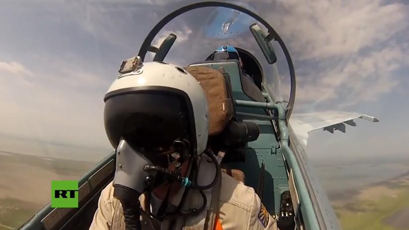 VIDEO: Imágenes únicas de cazas rusos que destruyen a posibles enemigos durante unas maniobras