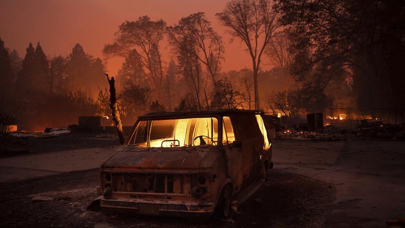 VIDEO: El masivo incendio forestal se cobra sus primeras víctimas mortales en California