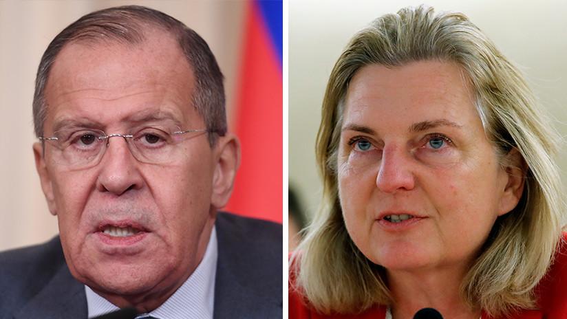 Lavrov en conversación con Kneissl subraya que acusar públicamente sin fundamento es inadmisible