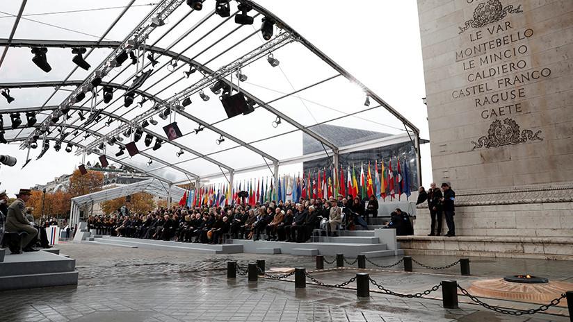 """""""Crear esperanza, no miedo"""": Líderes mundiales conmemoran el fin de la I Guerra Mundial en Francia"""