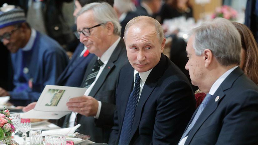 """Putin califica de """"buena"""" la conversación que mantuvo con Trump en París"""