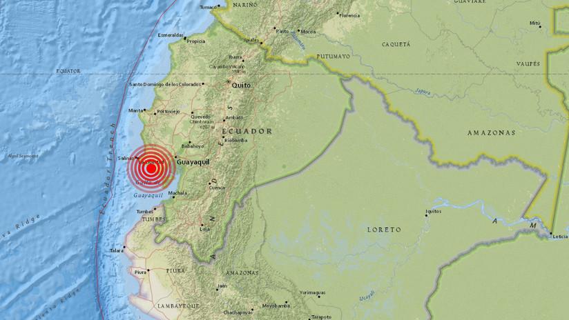 Registran sismo de magnitud 5,4 frente a las costas de Santa Elena