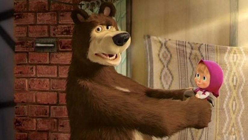 """La serie animada rusa 'Masha y el Oso',  ¿""""propaganda del Kremlin"""" para influir en niños británicos?"""