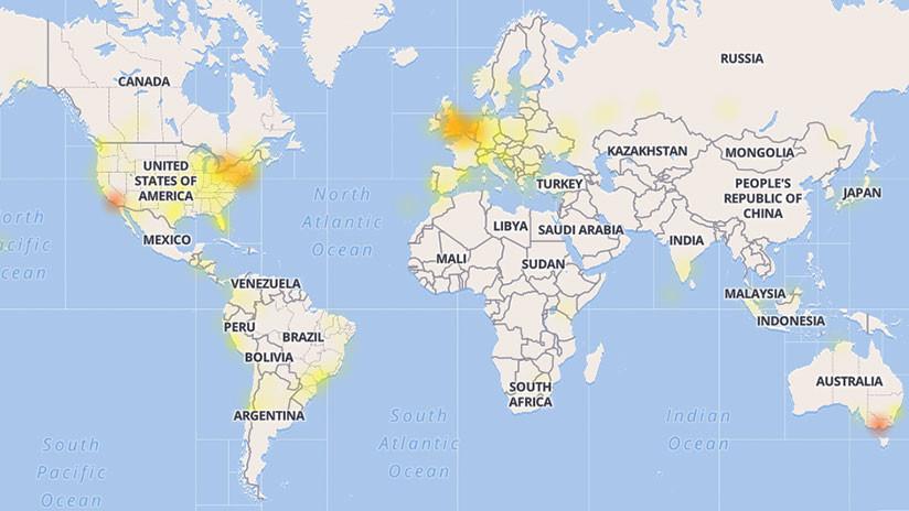 YouTube registra una masiva caída en América y Europa