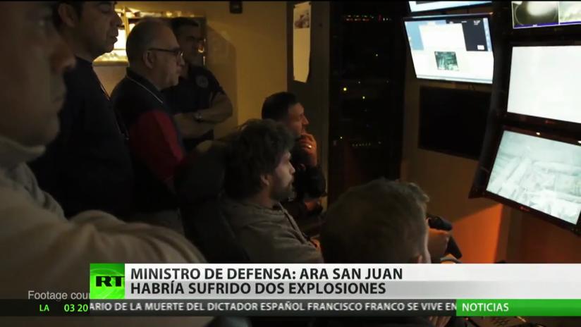Ministro de Defensa argentino: ARA San Juan puede haber sufrido dos explosiones