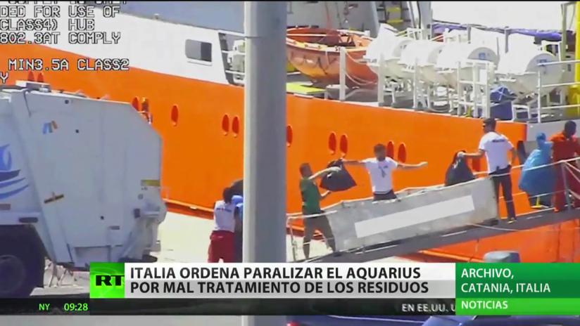 Italia ordena paralizar el barco Aquarius por gestionar mal sus residuos