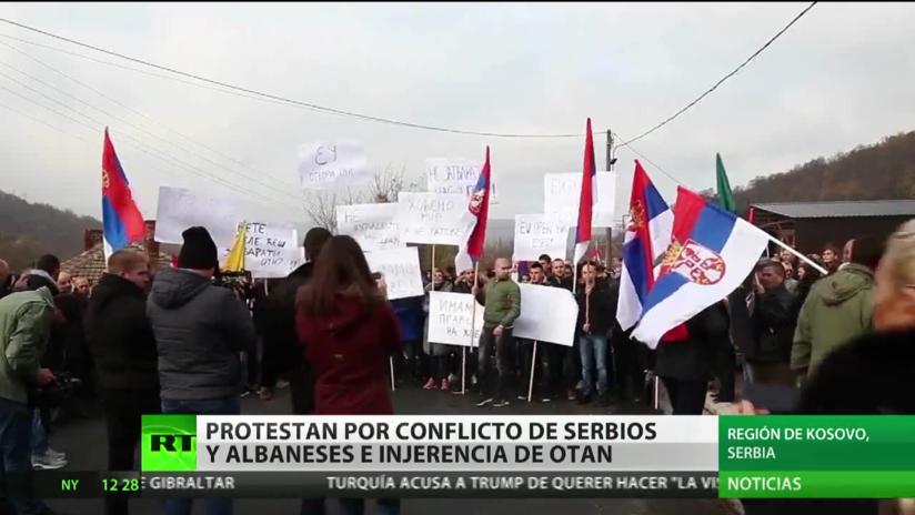 Kosovo: Protestas por la detención de ciudadanos serbios por parte de la Policía