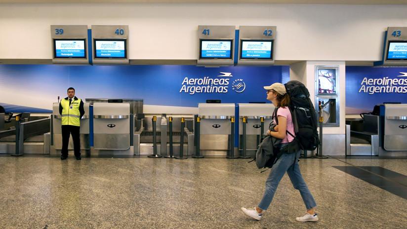 Aerolíneas Argentinas suspende todos sus vuelos a partir del lunes a raíz de un paro