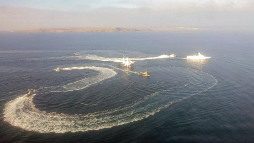 Tres barcos ucranianos entran ilegalmente en aguas territoriales rusas (VIDEO)