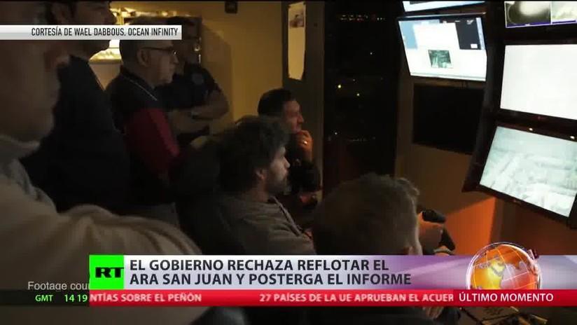 El Gobierno de Argentina rechaza reflotar el ARA San Juan y posterga el informe