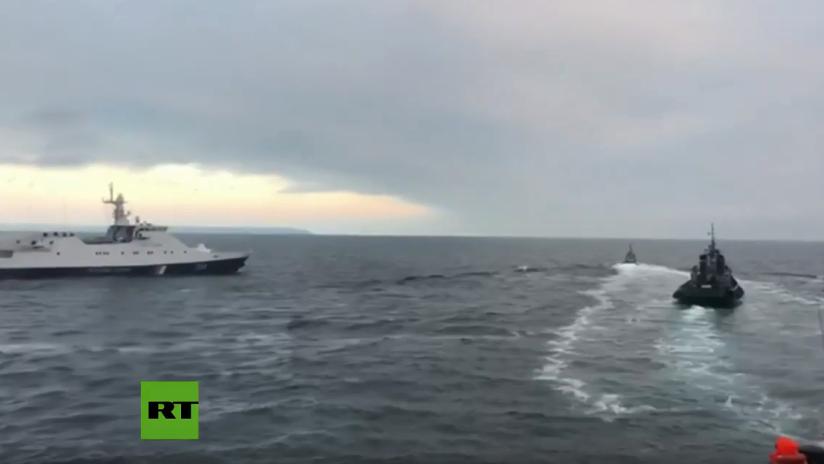 VIDEO: Guardia Costera de Rusia persigue a buques ucranianos tras violación de la soberanía rusa