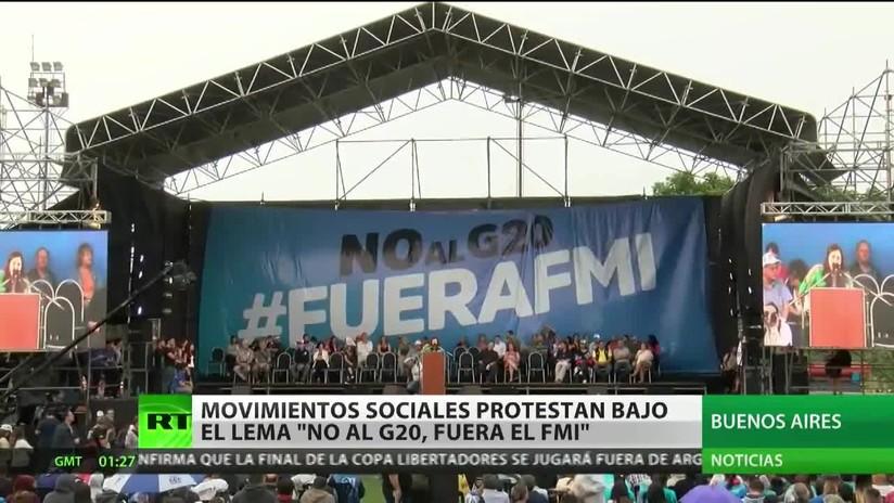 """Argentina: Movimientos sociales protestan bajo el lema """"No al G-20, fuera el FMI"""""""