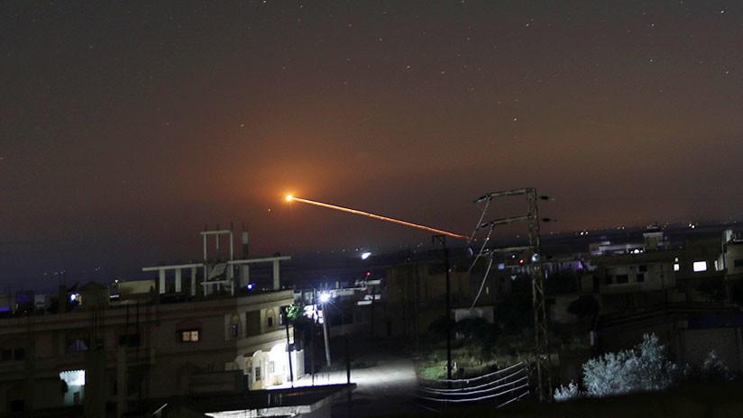 VIDEOS: Así derribó la defensa antiaérea de Siria objetivos enemigos en el sur del país
