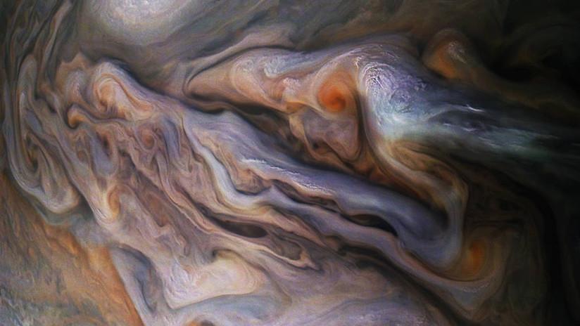 ¡Sorprendente! La Nasa capturó una foto de las nubes de Júpiter