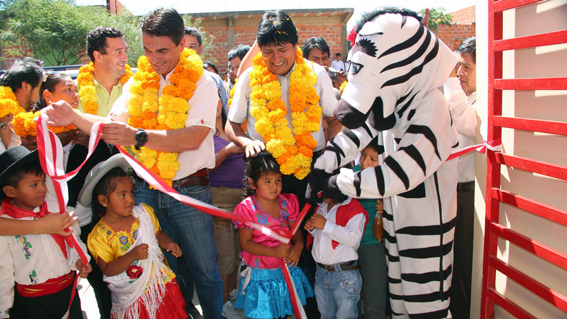 El presidente Morales inaugura un jardín de infantes en Tarija, Bolivia, 8 de abril de 2016 / Candia Martinez/ABI / www.globallookpress.com