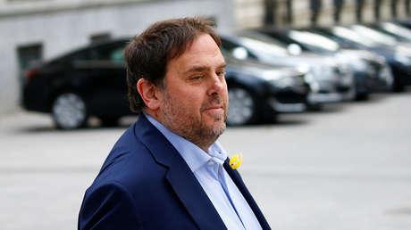 El exvicepresidente de la Generalitat de Cataluña, Oriol Junqueras.