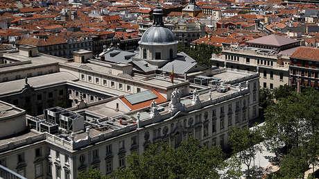 Vista aérea del Tribunal Supremo de España, en Madrid.