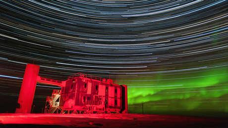 El telescopio de neutrinos IceCube.