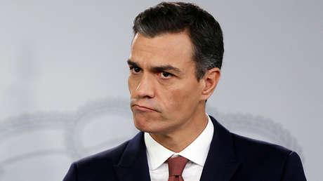 Pedro Sánchez en una rueda de medios en La Moncloa. 7 de noviembre de 2018.