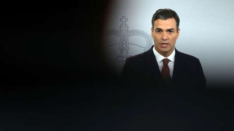 El presidente de España, Pedro Sánchez, en una rueda de medios en La Moncloa, Madrid. 7 de noviembre de 2018.