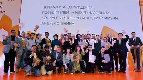Ganadores del Concurso Andréi Stenin 2018, Moscú, Rusia, el 8 de noviembre de 2018