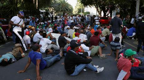 Migrantes de la caravana que viaja desde América Central hacia Estados Unidos, en la Ciudad de México, 8 de noviembre de 2018.