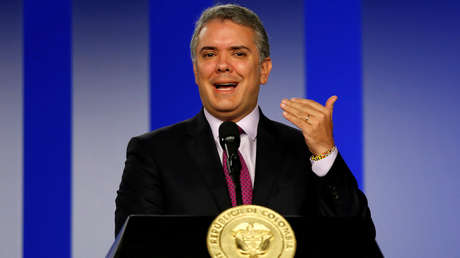 Iván Duque habla durante una conferencia de prensa el palacio presidencial,  Bogotá, Colombia, 8 de octubre de 2018.