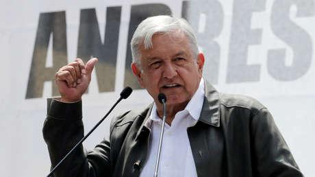 El presidente electo de México, Andrés Manuel López Obrador, en un mítin. 29 de septiembre de 2018.