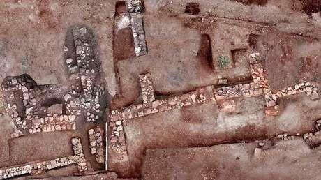 Restos de la antigua ciudad de Tenea, Grecia. Imagen difundida por el Ministerio de Cultura de Grecia el 13 de noviembre de 2018.