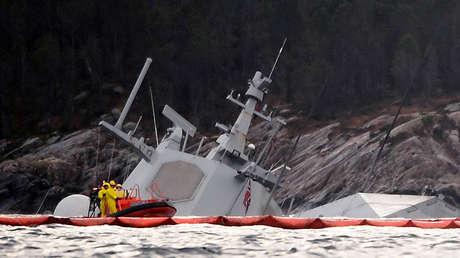 La fragata KNM Helge Ingstad de la Armada noruega, el 13 de noviembre de 2018.