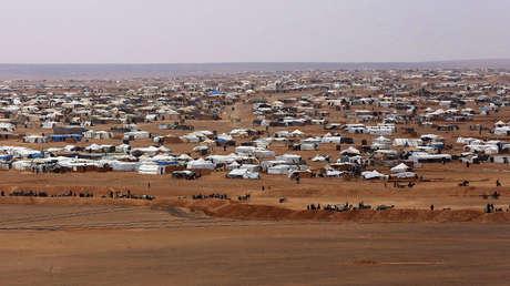 Vista general del campamento de refugiados de Rukban, en la frontera sirio-jordana, el 14 de febrero de 2017.