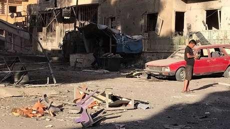 Efectos de un ataque con misiles en la provincia de Deir ez Zor (Siria), el 6 de octubre de 2017.
