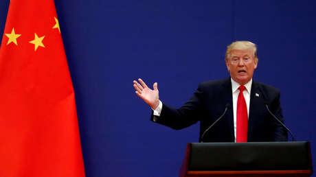 El presidente de EE.UU, Donald Trump, en Pekín el 9 de noviembre de 2017.