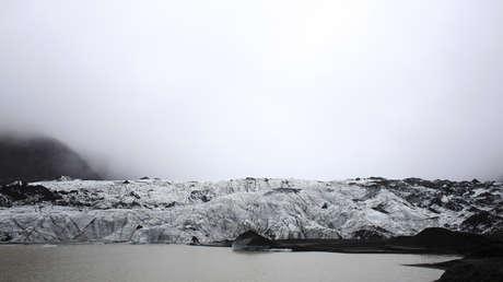 Vista al glaciar Solheimajokull, Islandia, el 16 de octubre de 2015.