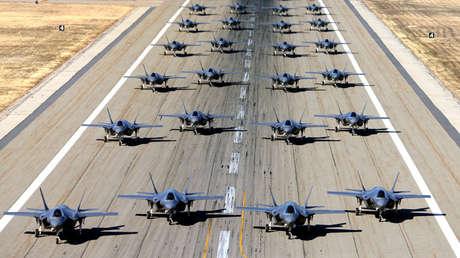 Ejercicios de la Fuerza Aérea estadounidense en Hill Air Force Base, Utah. 19 de noviembre de 2018.