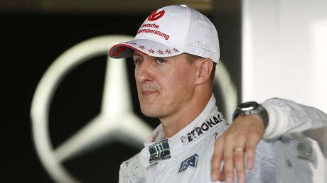 Michael Schumacher, en el garaje del circuito de Suzuka (Japón), el 4 de octubre de 2012.