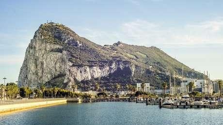 El 'Peñón' de Gibraltar visto desde territorio español.