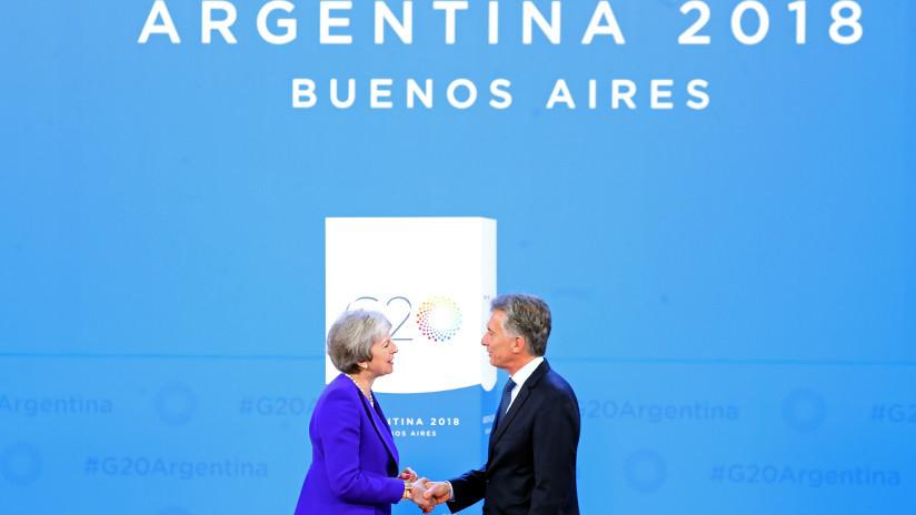 Histórico encuentro cara a cara entre Macri y Theresa May