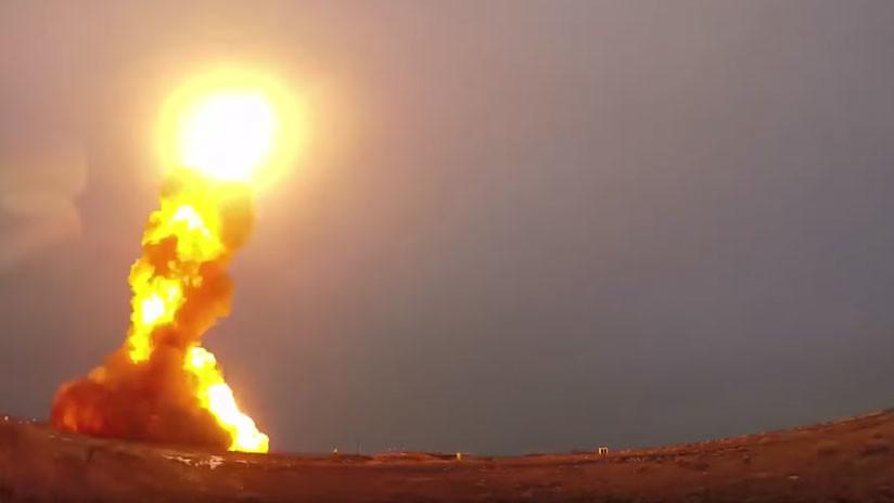 VIDEO: Rusia prueba con éxito un misil antibalístico modernizado