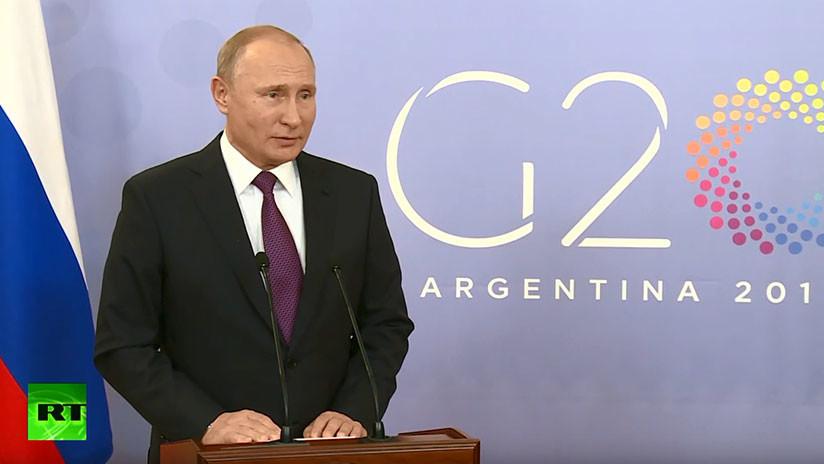 VIDEO: Putin revela de que habló con Trump en el G20 y aclara el incidente con Ucrania