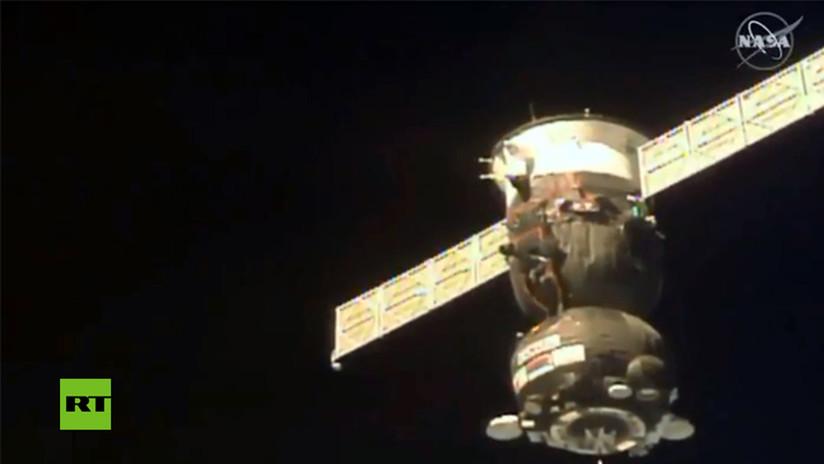 VIDEO: La nave Soyuz se acopla a la EEI