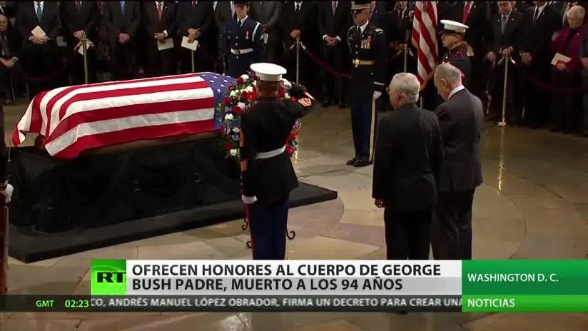 EE.UU: Ofrecen honores al cuerpo de George Bush Padre, muerto a los 94 años